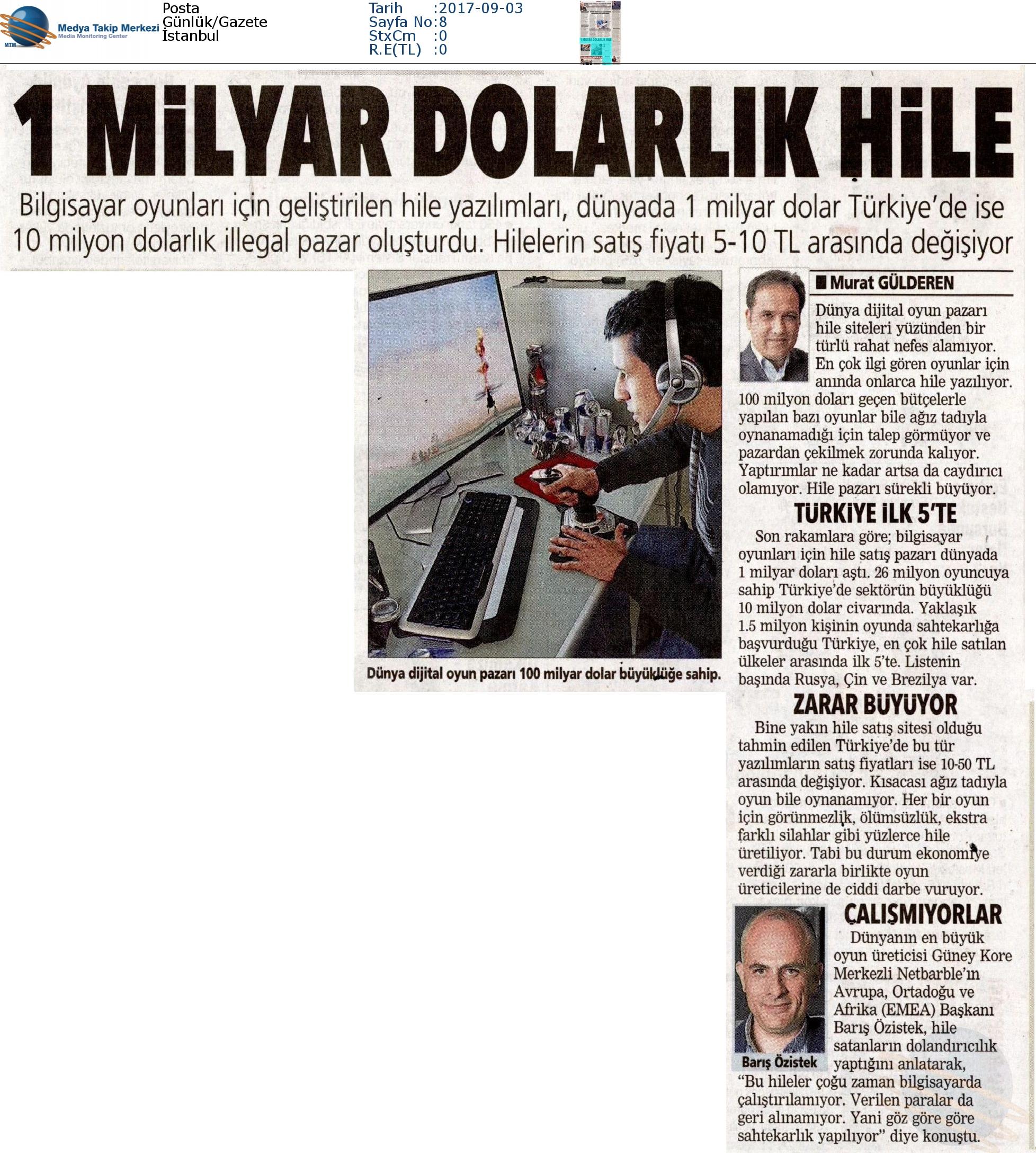 Posta Gazetesinde 1 Milyar Dolarlık Hile