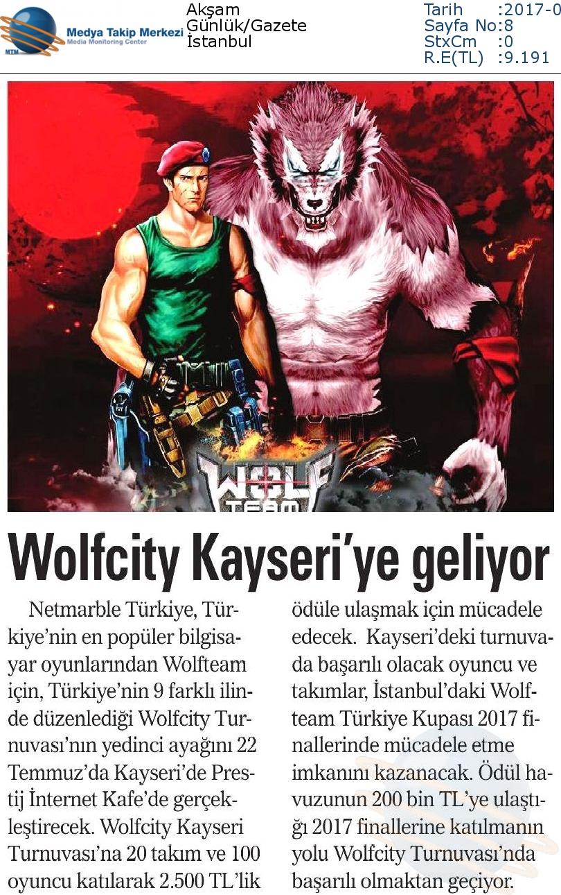 Akşam-VVOLFCİTY_KAYSERİ_YE_GELİYOR-20.07.2017-1