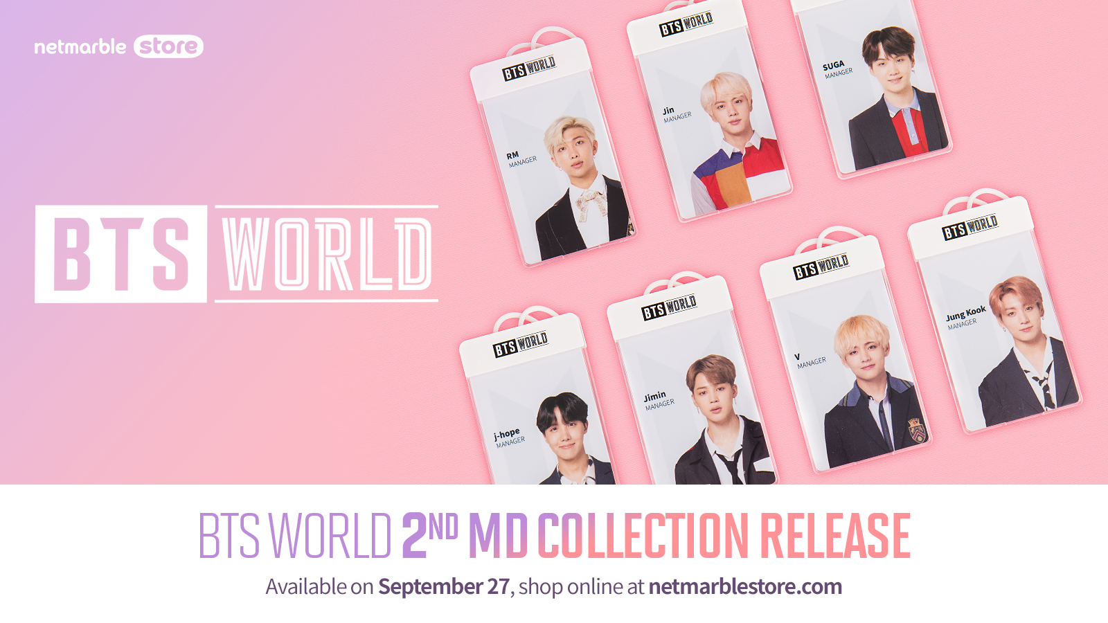 NETMARBLE RELEASES NEW BTS WORLD MERCHANDISE COLLECTION
