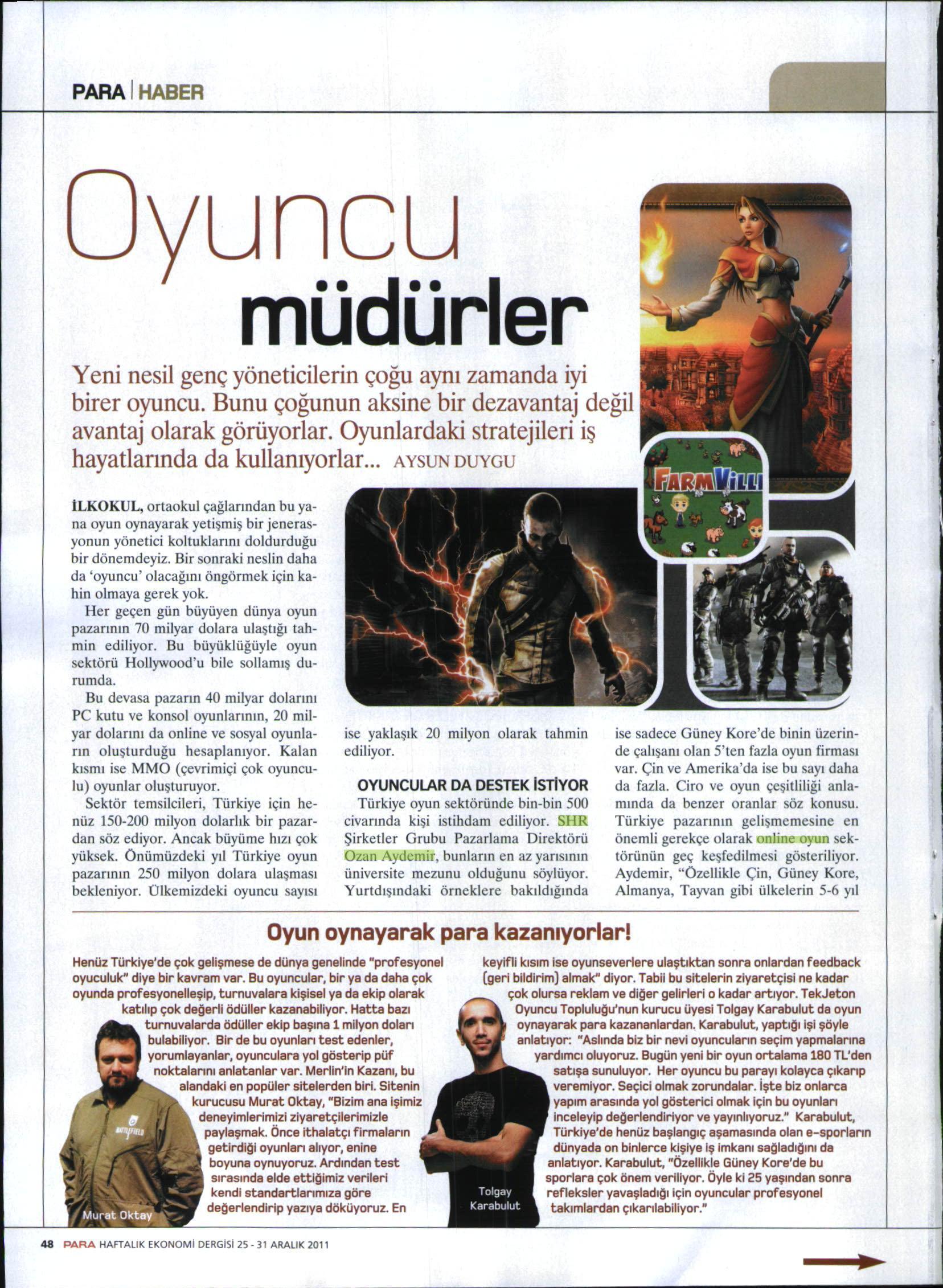 Netmarble-Turkey-Basin-Yansimasi-Para-Dergi-25-Aralik-2011-1