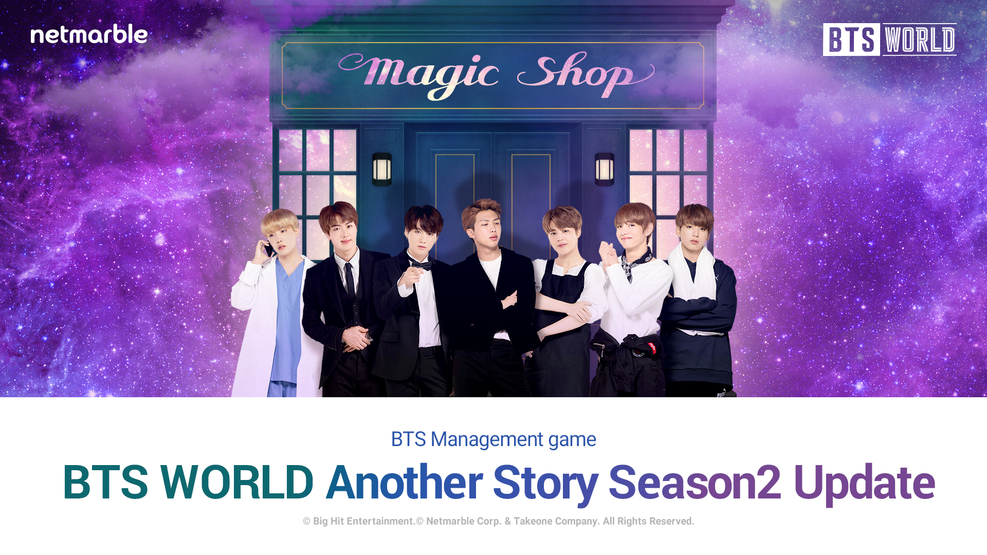 """BTS VISIT THE """"MAGIC SHOP"""" IN MARCH UPDATE  OF BTS WORLD"""