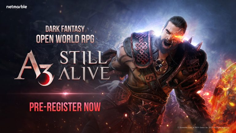 ENTER A WORLD OF DANGER, DESPERATION AND  EXTREME COMBAT WITH NETMARBLE'S  ALL-NEW DARK FANTASY OPEN WORLD RPG – A3: STILL ALIVE